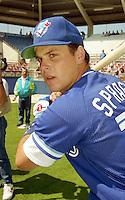 Toronto Blue Jays Ed Sprague during Spring Training 1993 at Charlotte Sports Park in Port Charlotte, Florida.  (MJA/Four Seam Images)
