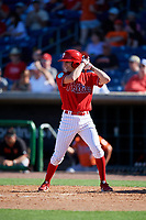 Philadelphia Phillies shortstop Nick Maton (88) at bat during a Grapefruit League Spring Training game against the Baltimore Orioles on February 28, 2019 at Spectrum Field in Clearwater, Florida.  Orioles tied the Phillies 5-5.  (Mike Janes/Four Seam Images)