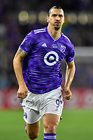 Orlando, FL - Wednesday July 31, 2019:  Zlatan Ibrahimovic #9 during the Major League Soccer (MLS) All-Star match between the MLS All-Stars and Atletico Madrid at Exploria Stadium.