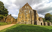 Battle Abbey is a partially ruined Benedictine abbey in Battle, East Sussex, England. The abbey was built on the site of the Battle of Hastings. 4th September 2020<br /> <br /> Photo by Keith Mayhew