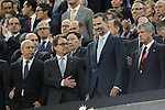 King Felipe VI of Spain before the 2014-15 Copa del Rey final match between Barcelona and Athletic de Bilbao at Camp Nou stadium in Barcelona, Spain. May 30, 2015. (ALTERPHOTOS/Victor Blanco)
