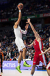 Real Madrid and Crvena Zvezda Telekom during Euroligue Basketball at Barclaycard Center in Madrid, October 22, 2015<br /> Gustavo Ayon and Nastic.<br /> (ALTERPHOTOS/BorjaB.Hojas)