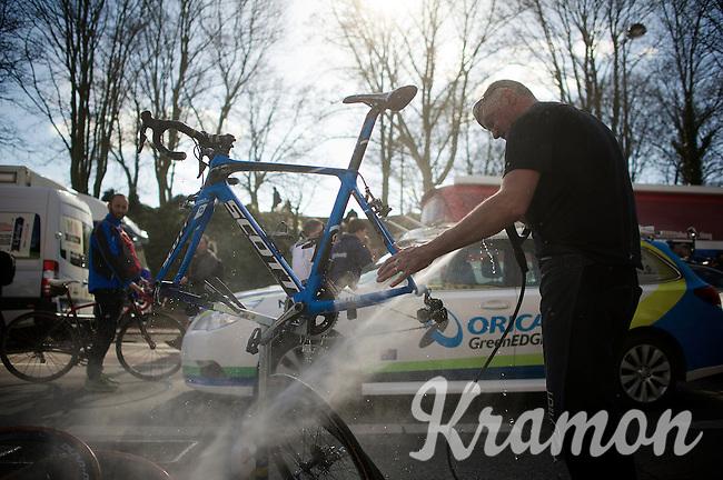 post-race cleaning<br /> <br /> 113th Paris-Roubaix 2015