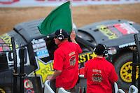 Mar. 20, 2011; Chandler, AZ, USA;  LOORRS pro four driver Kyle Leduc taking the green flag during round two at Firebird International Raceway. Mandatory Credit: Mark J. Rebilas-