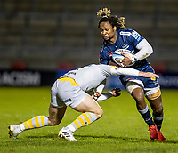27th December 2020; AJ Bell Stadium, Salford, Lancashire, England; English Premiership Rugby, Sale Sharks versus Wasps; Marland Yarde of Sale Sharks is tackled