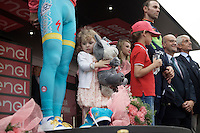 the kids podium: both Vincenzo Nibali (ITA/Astana) & Alejandro Valverde (ESP/Movistar) brought their kids to the stage<br /> <br /> stage 21: Cuneo - Torino 163km<br /> 99th Giro d'Italia 2016