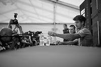 Peter Sagan (SVK/Cannondale) at the pré-race press conference in Leeds <br /> <br /> Tour de France 2014