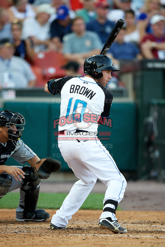 Syracuse Chiefs outfielder Corey Brown #10 during the Triple-A All-Star game featuring the Pacific Coast League and International League top players at Coca-Cola Field on July 11, 2012 in Buffalo, New York.  PCL defeated the IL 3-0.  (Mike Janes/Four Seam Images)
