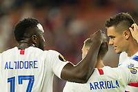 CLEVELAND, OHIO - JUNE 22: Jozy Altidore,Paul Arriola, Aaron Long, Weston McKennie during a 2019 CONCACAF Gold Cup group D match between the United States and Trinidad & Tobago at FirstEnergy Stadium on June 22, 2019 in Cleveland, Ohio.