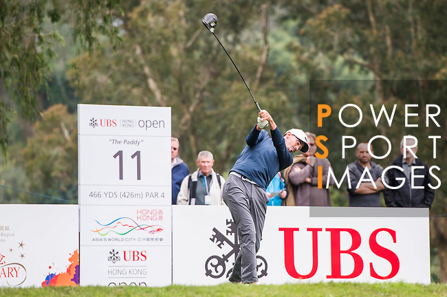 Paul Peterson of the United States tees off during the day three of UBS Hong Kong Open 2017 at the Hong Kong Golf Club on 25 November 2017, in Hong Kong, Hong Kong. Photo by Marcio Rodrigo Machado / Power Sport Images