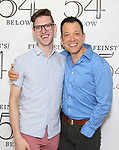 Ben Durocher and John Tartaglia backstage at the 'Avenue Q' 15th Anniversary Reunion Concert at Feinstein's/54 Below on July 30, 2018 in New York City.