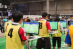 """April 26, 2015, Chiba, Japan - """"Niconico Douga"""" fan event is held at Makuhari Messe International Exhibition Hall on April 26, 2015, Chiba, Japan. The event includes special attractions such as J-pop concerts, Sumo and Pro Wrestling matches, cosplay and manga and various robot performances and is broadcast live on via the video-sharing site. Niconico Douga (in English """"Smiley, Smiley Video"""") is one of Japan's biggest video community sites where users can upload, view, share videos and write comments directly in real time, creating a sense of a shared watching. According to the organizers more than 200,000 viewers for two days will see the event by internet. The popular event is held in all 11 halls of the huge Makuhari Messe exhibition center from April 25 to 26. (Photo by AFLO)"""