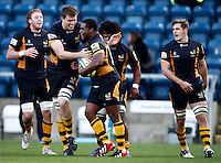 Photo: Richard Lane/Richard Lane Photography. London Wasps v Worcester Warriors. LV= Cup. 18/11/2012. Wasps celebrate a try scored by Simon McIntyre.