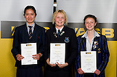 Girls Mountain Biking finalists Sasha Smith, Adrienne Hooper & Hannah Lane. ASB College Sport Young Sportperson of the Year Awards 2008 held at Eden Park, Auckland, on Thursday November 13th, 2008.