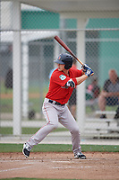 Boston Red Sox Ryan Scott (30) bats during a minor league Spring Training intrasquad game on March 31, 2017 at JetBlue Park in Fort Myers, Florida. (Mike Janes/Four Seam Images)
