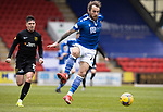 St Johnstone v Livingston…15.05.21  SPFL McDiarmid Park<br />Stevie May and Jackson Longridge<br />Picture by Graeme Hart.<br />Copyright Perthshire Picture Agency<br />Tel: 01738 623350  Mobile: 07990 594431