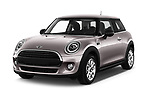 2019 Mini MINI One 3 Door Hatchback angular front stock photos of front three quarter view