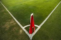SAN JOSE, CA - OCTOBER 18: corner flag before a game between Seattle Sounders FC and San Jose Earthquakes at Earthquakes Stadium on October 18, 2020 in San Jose, California.