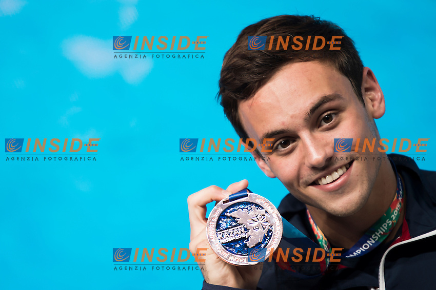 DALEY Tom GBR bronze medal<br /> Diving - Men's 10m Platform final<br /> Day 10 02/08/2015<br /> XVI FINA World Championships Aquatics Swimming<br /> Kazan Tatarstan RUS July 24 - Aug. 9 2015 <br /> Photo Giorgio Perottino/Deepbluemedia/Insidefoto