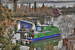 Houseboats in Yellowknife Bay
