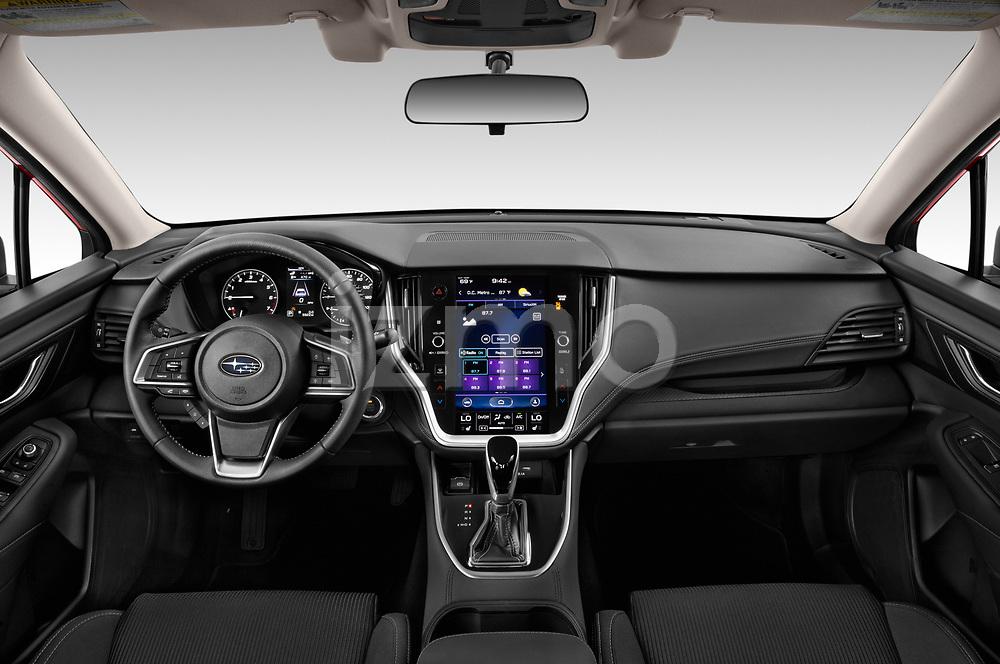 Stock photo of straight dashboard view of 2020 Subaru Legacy Premium 4 Door Sedan Dashboard
