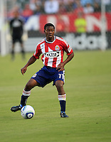 Chivas USA midfielder Michael Lahoud gets ready to pass  during the first half of game between Chivas USA and FC Dallas at the Home Depot Center in Carson CA on June 26 2010. FC Dallas 2, Chivas USA 1.