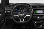 Car pictures of steering wheel view of a 2019 Nissan Leaf SV 5 Door Hatchback