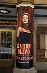 """Theatre Marquee with Karen Olivo  for """"Moulin Rouge!"""" The Broadway Musical at the Al Hirschfeld Theatre on July 9, 2019 in New York City."""