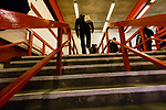Nottingham Forest 3 Ipswich Town 0, 07/05/2017. City Ground, Championship. Forest fans climbing the steps of The Brian Clough Stand before the game between Nottingham Forest v Ipswich Town at the City Ground Nottingham in the SkyBet Championship. Photo by Paul Thompson.