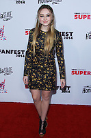 SANTA MONICA, CA, USA - OCTOBER 08: Sabrina Carpenter arrives at the Vevo CERTIFIED SuperFanFest held at Barkar Hangar on October 8, 2014 in Santa Monica, California, United States. (Photo by David Acosta/Celebrity Monitor)