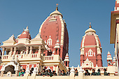 Delhi, India. Birla Mandir Hindu temple to Laxmi and Narayan. School children.