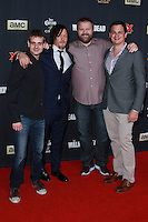 UNIVERSAL CITY, CA, USA - OCTOBER 02: Norman Reedus, Robert Kirkman arrive at the Los Angeles Premiere Of AMC's 'The Walking Dead' Season 5 held at AMC Universal City Walk on October 2, 2014 in Universal City, California, United States. (Photo by David Acosta/Celebrity Monitor)