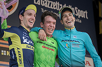 race winner: Rigoberto Uran (COL/Cannondale-Drapac)<br /> 2nd: Adam Yates (GBR/Orica-Scott)<br /> 3rd: Fabio Aru (ITA/Astana)<br /> <br /> 98th Milano - Torino 2017 (ITA) 186km