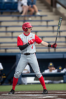 Ohio State Buckeyes shortstop Zach Dezenzo (4) at bat against the Michigan Wolverines on April 9, 2021 in NCAA baseball action at Ray Fisher Stadium in Ann Arbor, Michigan. Ohio State beat the Wolverines 7-4. (Andrew Woolley/Four Seam Images)