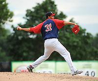 Portland Sea Dogs pitcher Rafael Perez (31) during game against the Trenton Thunder at ARM & HAMMER Park on June 23, 2013 in Trenton, NJ.  Portland defeated Trenton 11-0.  (Tomasso DeRosa/Four Seam Images)