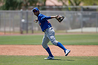 Chicago Cubs shortstop Josue Huma (13) during an Extended Spring Training game against the Colorado Rockies at Sloan Park on April 17, 2018 in Mesa, Arizona. (Zachary Lucy/Four Seam Images)