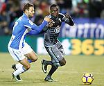 CD Leganes' Victor Diaz (l) and Celta de Vigo's Pione Sisto during La Liga match. January 28,2017. (ALTERPHOTOS/Acero)