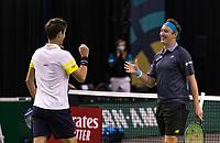 Rotterdam, The Netherlands, 3 march  2021, ABNAMRO World Tennis Tournament, Ahoy, First round doubles: Henri Kontinen (FIN) / Edouard Roger Vasslin (FRA).<br /> Photo: www.tennisimages.com/