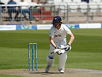 27th May 2021; Emirates Old Trafford, Manchester, Lancashire, England; County Championship Cricket, Lancashire versus Yorkshire, Day 1;  Tom Kohler-Cadmore of Yorkshire at bat