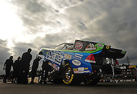 Aug. 5, 2011; Kent, WA, USA; NHRA funny car driver Tony Pedregon during qualifying for the Northwest Nationals at Pacific Raceways. Mandatory Credit: Mark J. Rebilas-