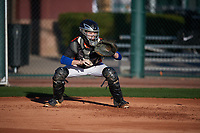 John Zeto (7) of Grace Christian School in Dover, Florida during the Baseball Factory All-America Pre-Season Tournament, powered by Under Armour, on January 13, 2018 at Sloan Park Complex in Mesa, Arizona.  (Mike Janes/Four Seam Images)