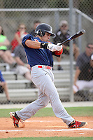 Jeremy Vasquez, #4 of Martin County High School, FL for the Cardinals Scout Team / FTB Chandler during the WWBA World Championship 2013 at the Roger Dean Complex on October 25, 2013 in Jupiter, Florida. (Stacy Jo Grant/Four Seam Images)