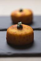 Europe/France/73/Savoie/Val d'Isère:  Palet au Caviar - Recette d' Alexandre Fabris, restaurant : Le Grain de Sel à l'Hôtel: Le Savoie