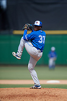Toronto Blue Jays pitcher Julian Valdez (37) during an Instructional League game against the Philadelphia Phillies on September 23, 2019 at Spectrum Field in Clearwater, Florida.  (Mike Janes/Four Seam Images)