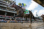 LOUISVILLE, KY - MAY 06: Always Dreaming #5 with John  Velazquez aboard wins the Kentucky Derby at Churchill Downs on May 6, 2017 in Louisville, Kentucky. (Photo by Alex Evers/Eclipse Sportswire/Getty Images)