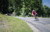 Nils Politt (DEU/Katusha-Alpecin) leading the race<br /> <br /> Stage 6: Le parc des oiseaux/Villars-Les-Dombes › La Motte-Servolex (147km)<br /> 69th Critérium du Dauphiné 2017