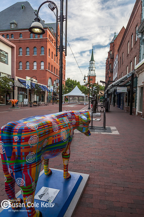 The Church St Marketplace in Burlington, VT, USA