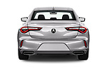 Straight rear view of 2021 Acura TLX Advance-Package 4 Door Sedan Rear View  stock images