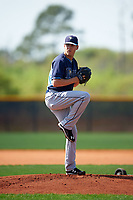 Tampa Bay Rays Justin Marks (81) during a minor league Spring Training intrasquad game on April 1, 2016 at Charlotte Sports Park in Port Charlotte, Florida.  (Mike Janes/Four Seam Images)
