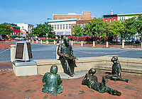 Kunta Kinte, Alex Haley Memorial sculpture, Annapolis, Maryland, USA
